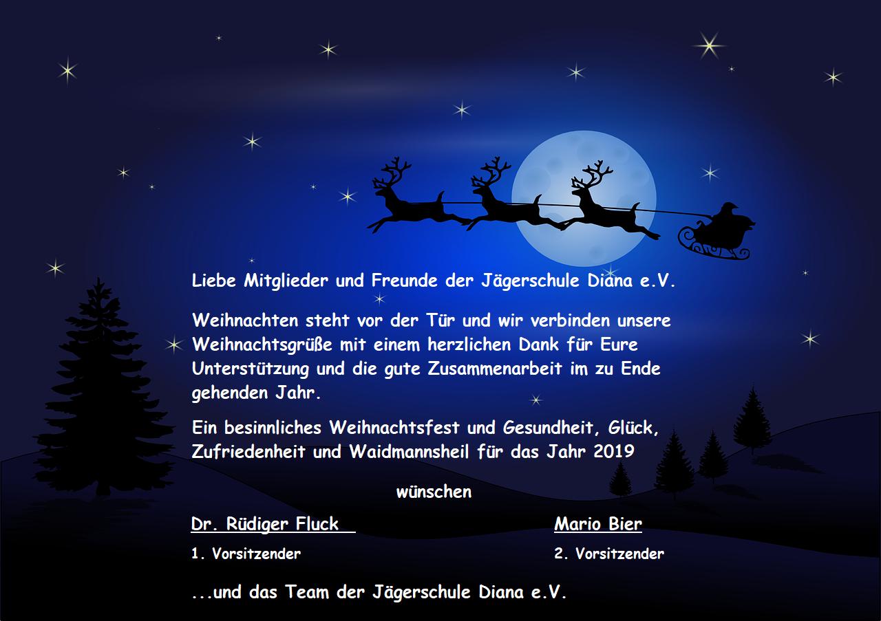 Jagdliche Weihnachtsgrüße.News Seite 2 Jägerschule Diana E V